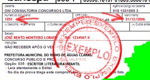 Exemplo de Boleto